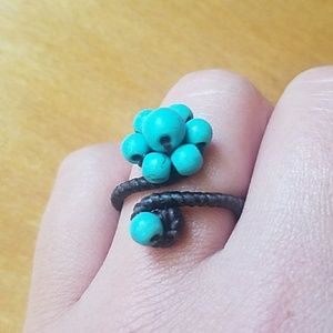 Jewelry - Adjustable Turquoise Beaded Ring